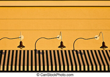 Awning with Lamps