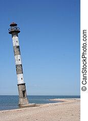 Awry lighthouse - An old awry lighthouse in Estonia Saaremaa...