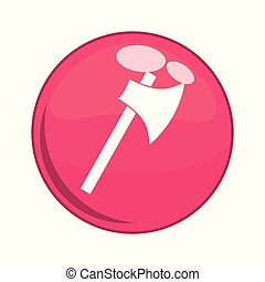 ax button isolated icon