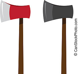 Ax Colors  - Isolated ax in two colors