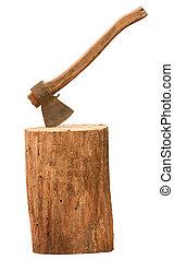 Axe and log