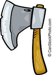 axe clip art cartoon illustration - Cartoon Illustration of...