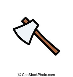 axe  flat color icon