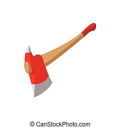 Axe for a firefighter cartoon icon