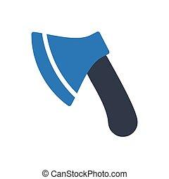 axe  glyph color icon