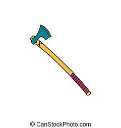 Axe icon, cartoon style
