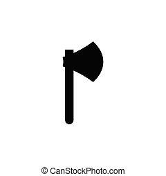 Axe icon design template vector isolated