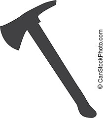 Axe icon in black on a white background. Vector illustration
