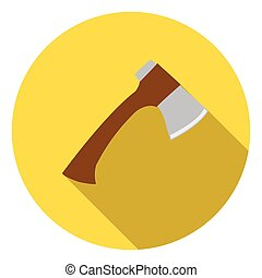 Axe icon in flat style isolated on white background. Camping symbol stock vector illustration.