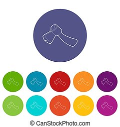 Axe icons set color