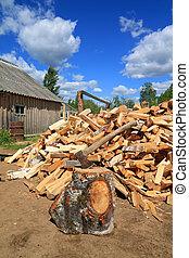 axe in log