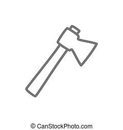 Axe line icon.