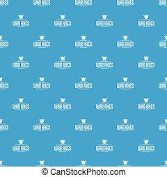 Axe pattern vector seamless blue