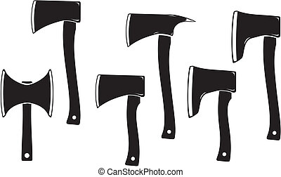 axe silhouette - axe icon - suitable for user interface or ...
