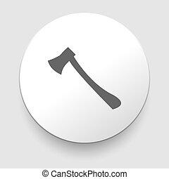 axe symbol on white background. EPS10 illustration