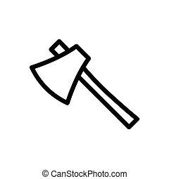 axe  thin line icon