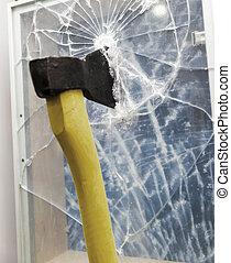 Axe to smash the window