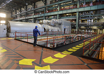 power plant - axis turbine at a power plant