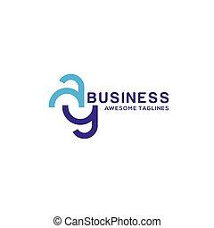 AY letter logo design vector illustration template, A letter...