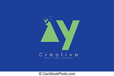 AY Letter Logo Design With Negative Space Concept.