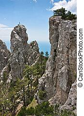 Ay Petri. Crimean mountains. Black Sea