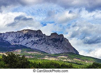 Ay-Petri mountain in Crimea, Ukraine.
