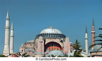 Hagia Sophia in Istanbul (ancient Christian church, converted to a mosque)