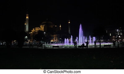 Ayasofia at night