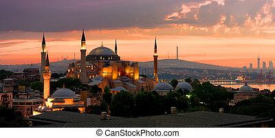 Ayasofya in Istanbul - View on Ayasofya museum and cityscape...