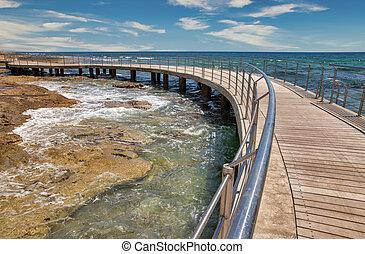 Ayia Napa beach promenade seafront, Cyprus.