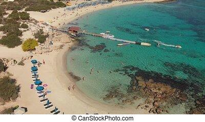 Ayia Napa, Cyprus - November 1. 2018. Flight over...