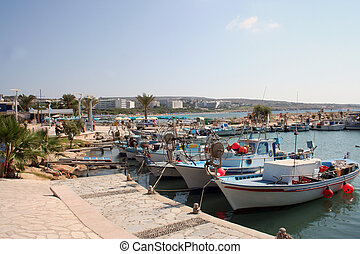 Ayia Napa Harbour Cyprus - A general view of the harbour ...