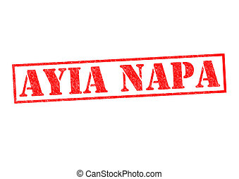 AYIA NAPA Rubber Stamp over a white background.