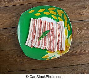 Ayrshire Bacon - Scottish traditional dish of pork