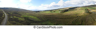 Ayrshire From Above - A stunning panoramic image taken from...