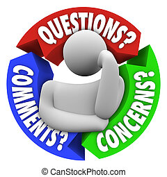 ayuda al cliente, comments, diagrama, preocupaciones, preguntas