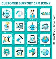 ayuda al cliente, iconos, conjunto
