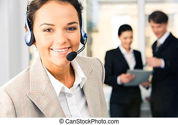 ayuda al cliente, servicio
