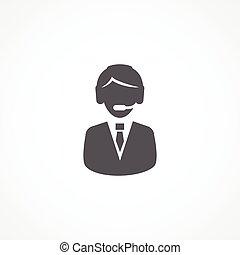 ayuda al cliente, servicio, icono