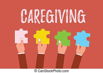 ayuda, empresa / negocio, foto, apoyo, caregiving., ...