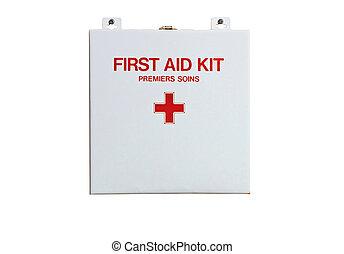 ayuda, primero, kit