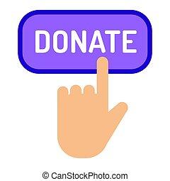 ayuda, regalo, elasticidad, dar dinero, botón, apoyo,...