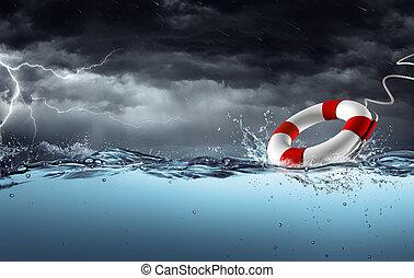 ayuda, -, tormenta, sos, cinturón salvavidas