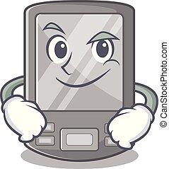 ayudante, el smirking, aislado, caricatura, digital, personal