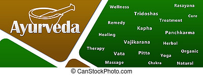 Ayurveda Green Golden - An image with Ayurveda text with...