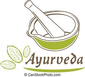 Ayurveda. Icon for design. Vector illustration