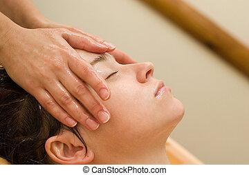 ayurvedic, massagem