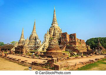 ayutthaya, park, historische , ayutthaya, wat,...