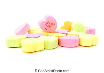 az enyém, szeret, valentines, cukorka