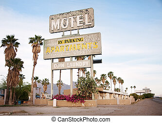 Az motel sign in USA - An old sign over old motel in...